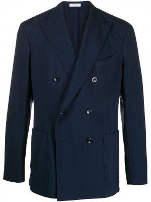 Легкий двубортный пиджак Boglioli. Цвет: 0782 navy