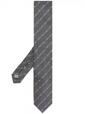 Жаккардовый галстук Canali. Цвет: серый