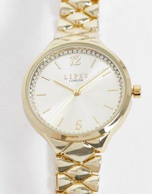 Золотистые часы-браслет -Золотой Lipsy