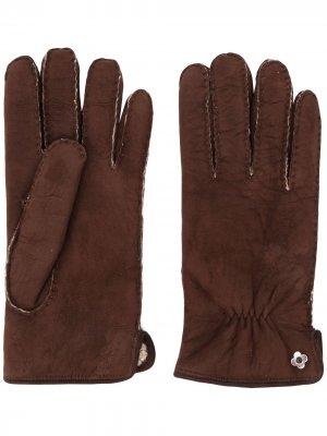 Меховые перчатки Lardini. Цвет: коричневый