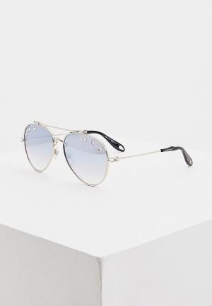 Очки солнцезащитные Givenchy GV 7057/N/STARS GKZ. Цвет: серебряный