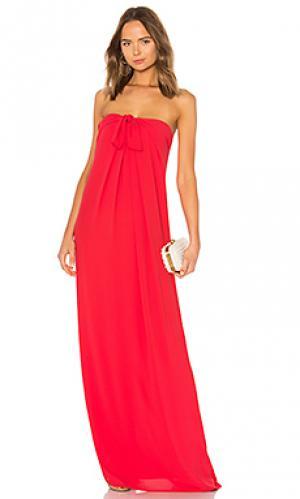 Вечернее платье front tie Halston Heritage. Цвет: красный