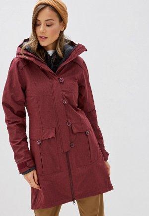 Куртка утепленная Bergans of Norway Bjerke 3in1 Lady Coat. Цвет: бордовый