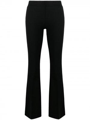 Расклешенные брюки кроя слим Blanca Vita. Цвет: черный