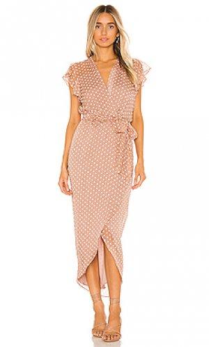 Платье миди martinique Amanda Uprichard. Цвет: коричневый