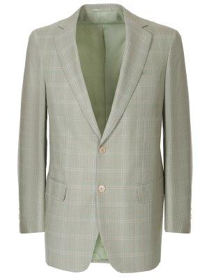 Пиджак из шерсти и шелка CASTANGIA