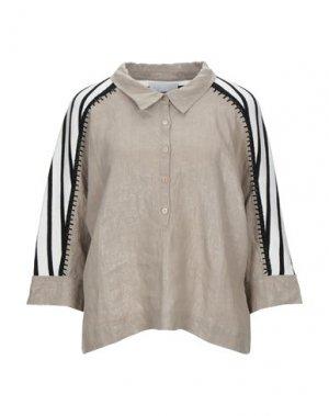 Pубашка BRAND UNIQUE. Цвет: бежевый