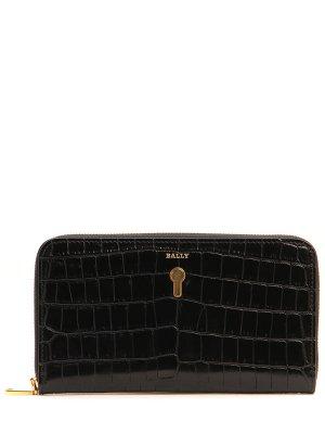 Кожаный кошелек BALLY. Цвет: черный