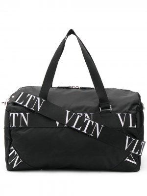 Дорожная сумка с принтом VLTN Valentino Garavani. Цвет: черный