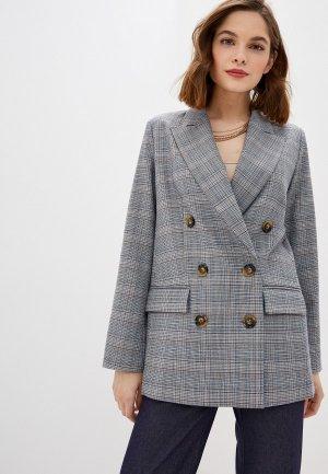 Пиджак Self Made. Цвет: серый