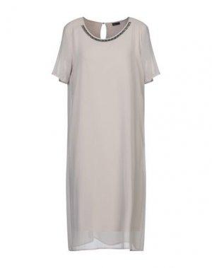 Платье до колена BARBARA LEBEK. Цвет: голубиный серый