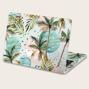 2 листа 15 дюймов наклейка для ноутбука с узором кокосовой пальмы SHEIN. Цвет: многоцветный