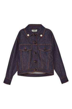 Джинсовая куртка oversize Fendi. Цвет: синий