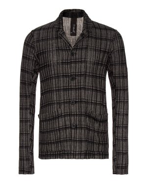 Пиджак TRN14491 m серый+принт Transit. Цвет: серый+принт