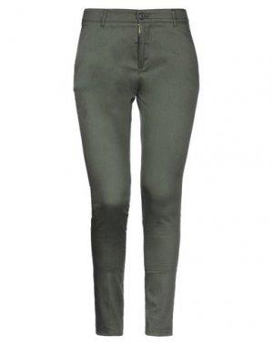 Повседневные брюки GOLD. Цвет: темно-зеленый