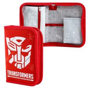 Пенал 1 секция откидной карман и космет 140*210 ткань трансформеры Hasbro