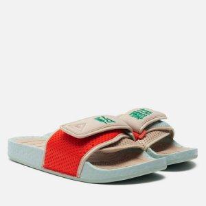 Сланцы x Pharrell Williams Nigo Chancletas adidas Originals. Цвет: бежевый
