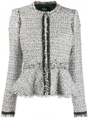 Твидовый пиджак с баской Karl Lagerfeld