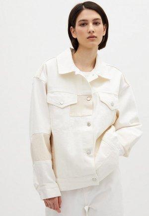 Куртка джинсовая Lime. Цвет: белый