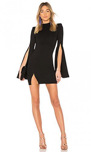 Платье с высоким воротником gibson Michael Costello. Цвет: черный