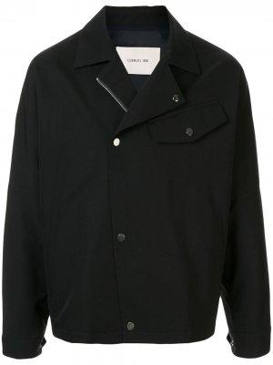 Легкая куртка свободного кроя Cerruti 1881. Цвет: черный