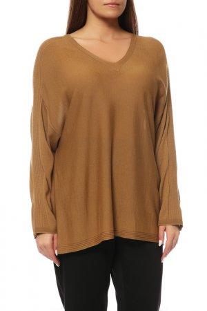 Пуловер Marina Rinaldi. Цвет: коричневый