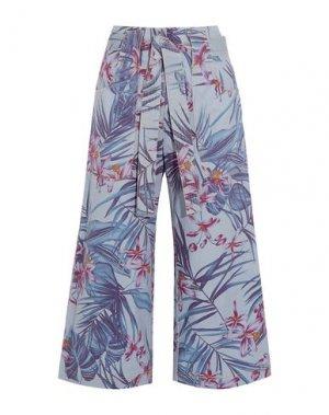 Джинсовые брюки-капри SUNO. Цвет: синий
