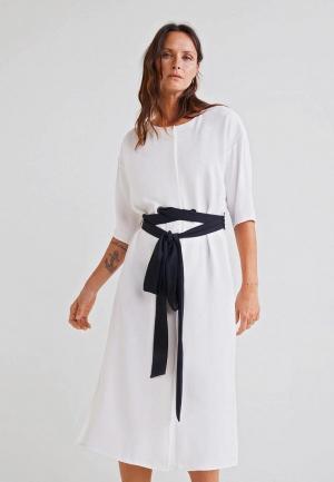 Платье Mango - CRUCE-I. Цвет: белый