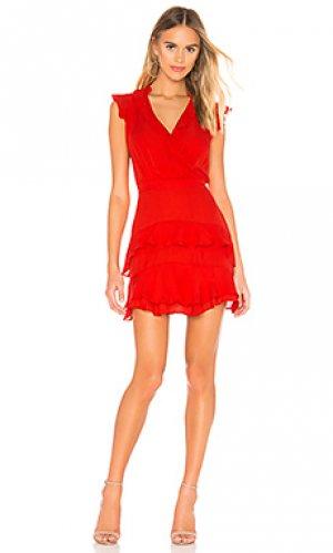 Мини платье tangia Parker. Цвет: красный