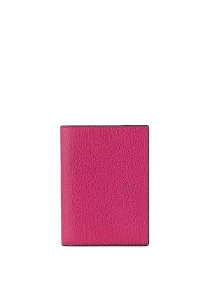 Обложка для паспорта с зернистым эффектом Valextra. Цвет: розовый