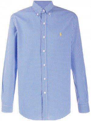 Клетчатая рубашка с длинными рукавами Polo Ralph Lauren. Цвет: синий