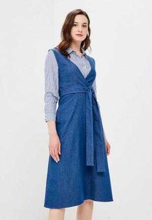 Платье джинсовое Mayclothes. Цвет: синий