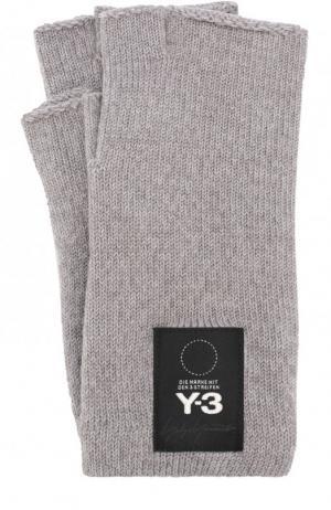 Шерстяные перчатки Y-3. Цвет: серый