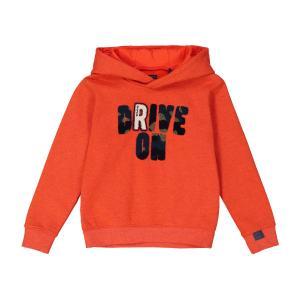 Свитшот с капюшоном, 3-14 лет IKKS JUNIOR. Цвет: оранжевый