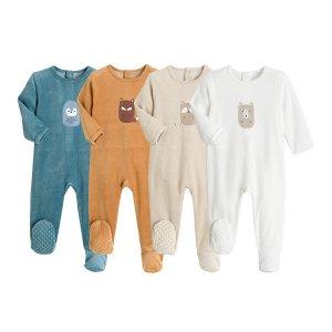 Комплект из 4 пижам LaRedoute. Цвет: разноцветный