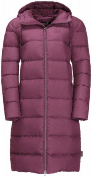 Пальто пуховое женское Jack Wolfskin Crystal Palace, размер 50. Цвет: фиолетовый