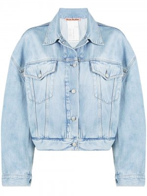 Укороченная джинсовая куртка Acne Studios. Цвет: синий