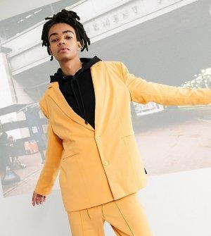 Oversized-блейзер оранжевого цвета в винтажном стиле COLLUSION Unisex-Оранжевый цвет