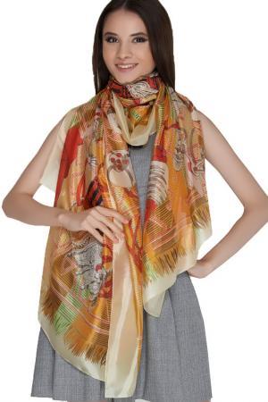 Палантин Giglio. Цвет: бежевый, коричневый, оранжевый