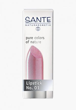 Помада Sante Светло-розовый № 01. Цвет: розовый