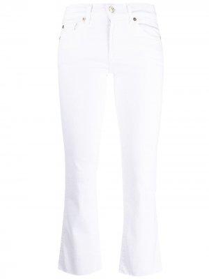 Расклешенные джинсы средней посадки 7 For All Mankind. Цвет: белый