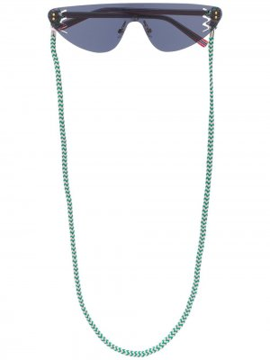 Солнцезащитные очки геометричной формы MISSONI EYEWEAR. Цвет: черный