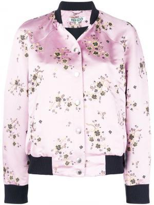 Floral print bomber jacket Kenzo. Цвет: розовый