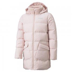 Детская куртка Long Down Youth Jacket PUMA. Цвет: розовый