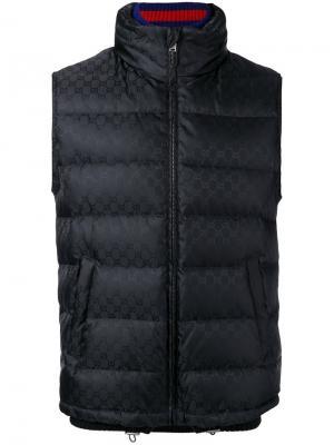 Пуховый жилет Original GG Gucci. Цвет: чёрный