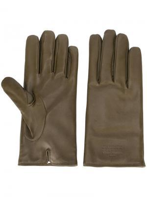 Классические перчатки Maison Margiela. Цвет: зелёный