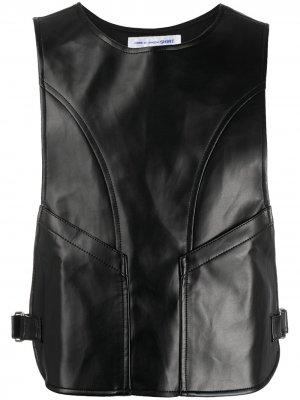 Фактурный жилет с пряжками Comme Des Garçons Shirt. Цвет: черный