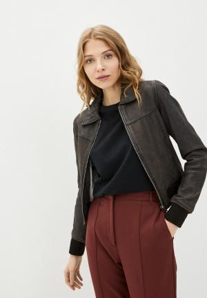 Куртка кожаная Oakwood LENNOX. Цвет: коричневый