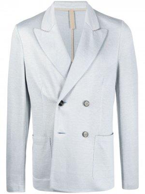 Двубортный пиджак Harris Wharf London. Цвет: синий