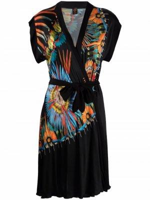 Пляжное платье 2000-х годов с принтом Jean Paul Gaultier Pre-Owned. Цвет: черный